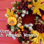 玄関が一気に秋らしくなる素敵なかぼちゃハロウィンリース