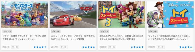 U-NEXTのディズニー映画
