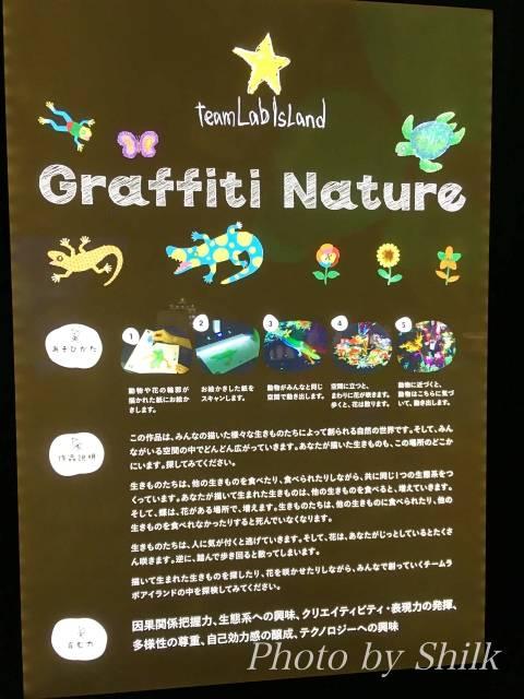ららぽーと湘南平塚のチームラボ内:グラフィティネイチャー