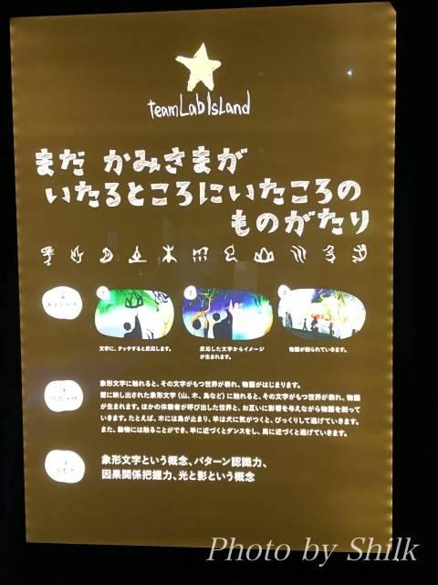 ららぽーと湘南平塚のチームラボ内:まだかみさまがいたるところにいたころのものがたり
