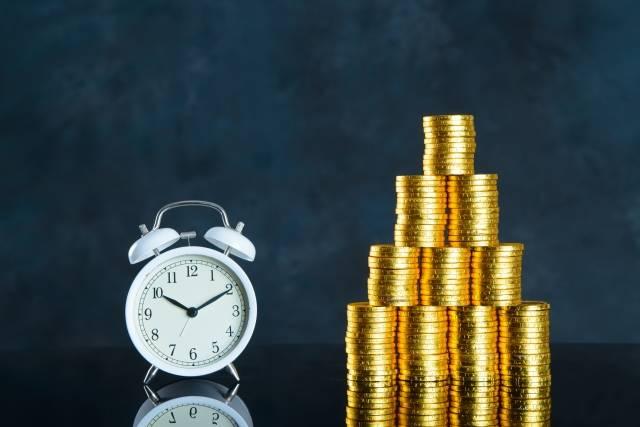 時間とお金のイメージ