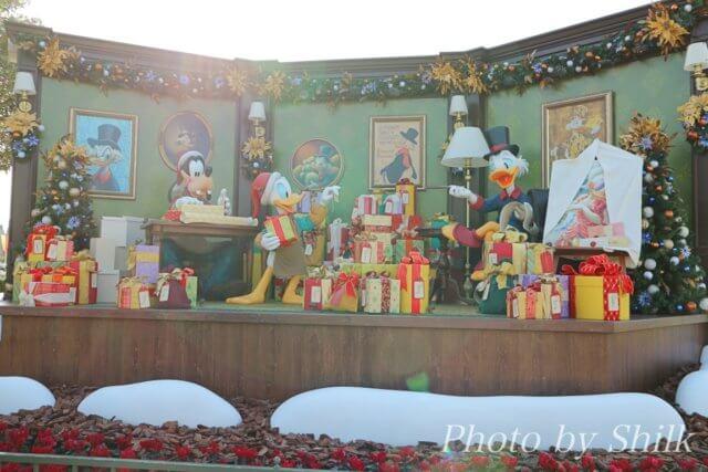 ディズニーランド、ディズニー・クリスマス2017のフォトロケーション
