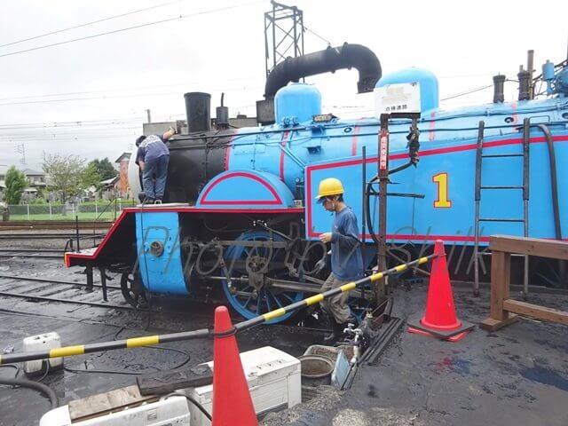 大井川鉄道トーマス号車両整備工場見学