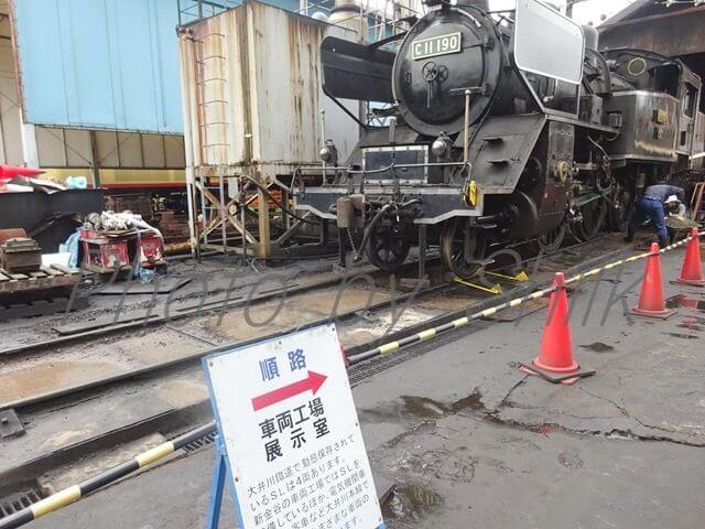 大井川鉄道車両整備工場見学