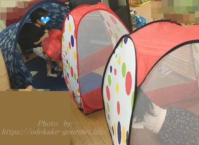 室内テント遊び