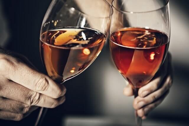 夫婦で乾杯