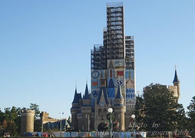 TDLシンデレラ城の工事