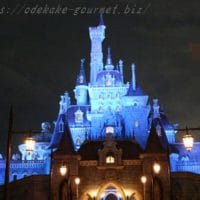 tdl美女と野獣のお城夜の写真