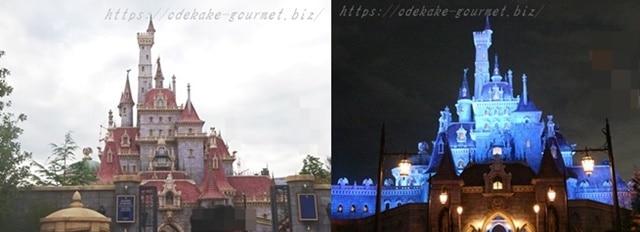 野獣の城昼と夜の写真