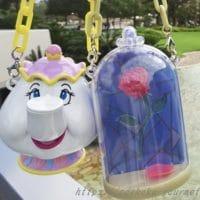 【TDL】ミニスナックケース「美女と野獣」ポット夫人と薔薇をゲット!